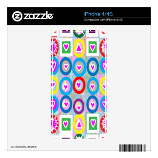Heart SweetHeart Pink Collection gifts Decal For iPhone 4
