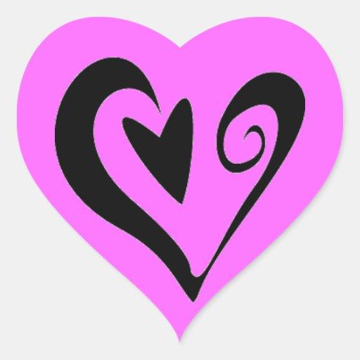 HEART SWEETNESS LOVE FRIENDSHIP GIRLY PINK CUTE HEART STICKER