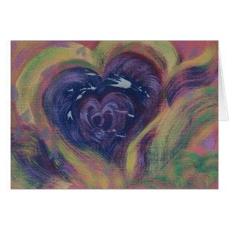 Heart Swimming With Love - Hand-Painted Card