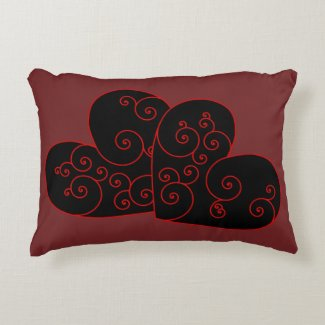 Heart Swirl Accent Pillow