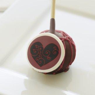 Heart Swirl Cake Pops