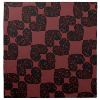 Heart Swirl Cloth Napkin