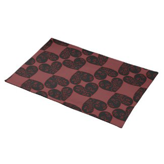Heart Swirl Cloth Placemat