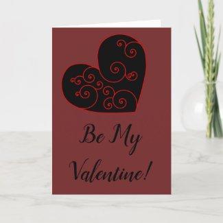 Heart Swirl Holiday Card