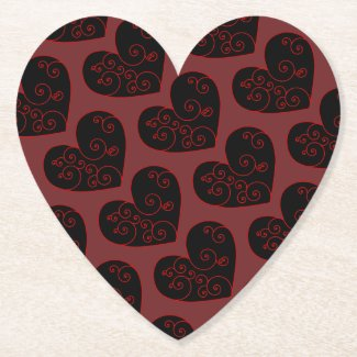 Heart Swirl Paper Coaster