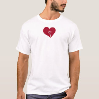 Heart Swirl, Red T-Shirt