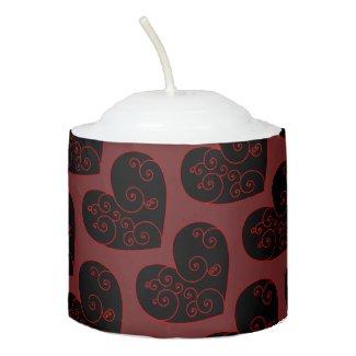 Heart Swirl Votive Candle
