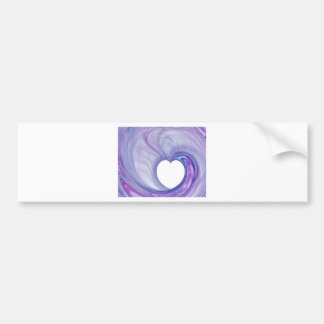 Heart Swirls Bumper Sticker