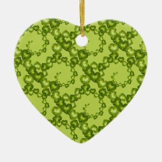 Heart Swirls,Garden Green-HEART ORNAMENT