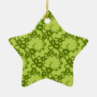 Heart Swirls Garden Green-STAR ORNAMENT