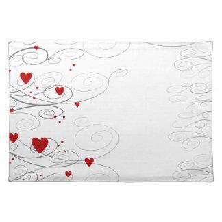 Heart Swirls Placemat