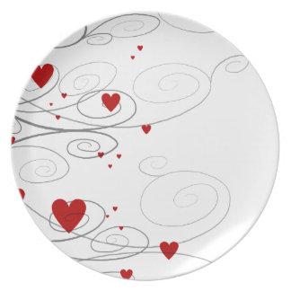 Heart Swirls Plate