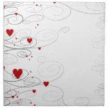 Heart Swirls Printed Napkins