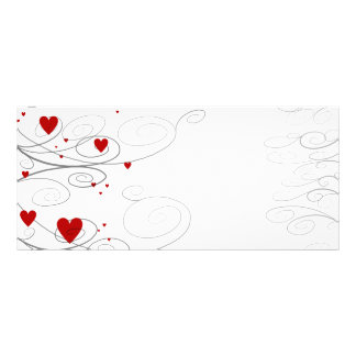 Heart Swirls Rack Card