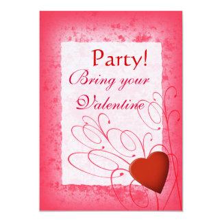 Heart & Swirls Valentine's Day Invitation
