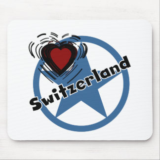 Heart Switzerland Mouse Pads