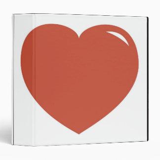 Heart Symbol 3 Ring Binder