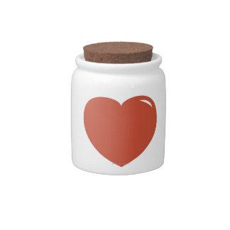 Heart Symbol Candy Jars