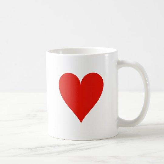 Heart symbol coffee mug