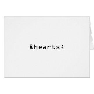 Heart Symbol in HTML Card
