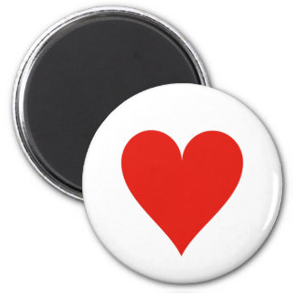 Heart symbol magnet