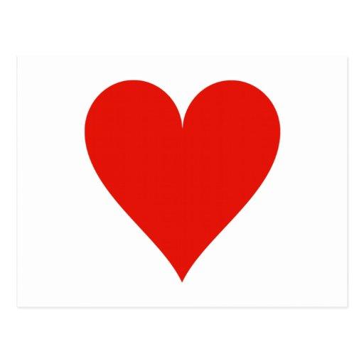 Heart symbol postcard | Zazzle