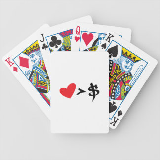 heart t bicycle poker deck