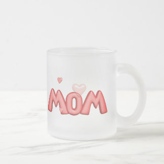 Heart T-shirts and Gifts For Mom Frosted Glass Coffee Mug