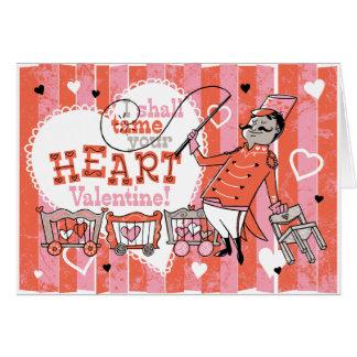 Heart Tamer Retro Valentine Card