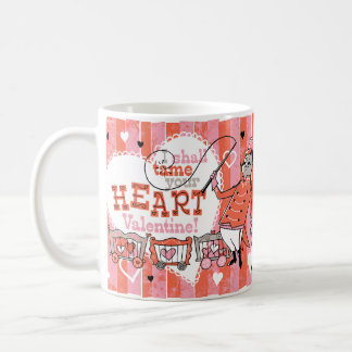 Heart Tamer Retro Valentine Mug