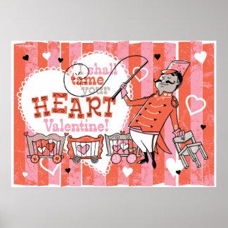 Heart Tamer Retro Valentine Print