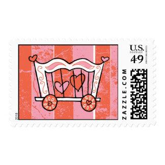 Heart Tamer Retro Valentine Stamps