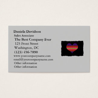 Heart Tapestry Design Business Card