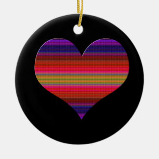 Heart Tapestry Design Ceramic Ornament