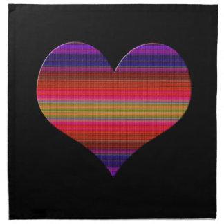 Heart Tapestry Design Cloth Napkin