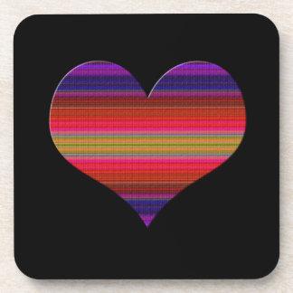 Heart Tapestry Design Coaster