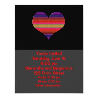 "Heart Tapestry Design 4.25"" X 5.5"" Invitation Card"