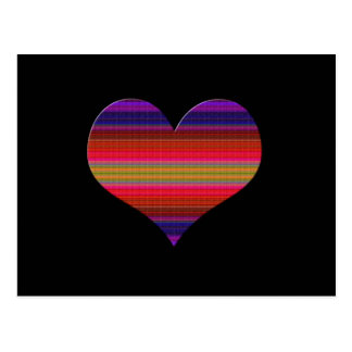 Heart Tapestry Design Postcard