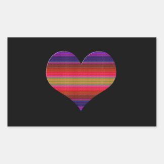 Heart Tapestry Design Rectangular Sticker