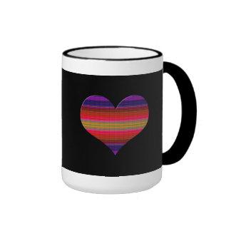 Heart Tapestry Design Ringer Mug