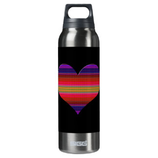 Heart Tapestry Design Thermos Bottle