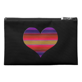 Heart Tapestry Design Travel Accessory Bag
