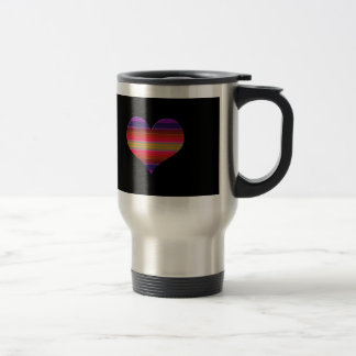 Heart Tapestry Design Travel Mug