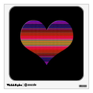 Heart Tapestry Design Wall Decal