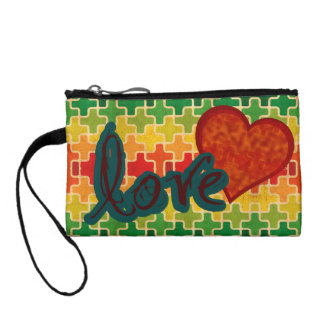 Heart Tapestry Love Pattern Coin Purse