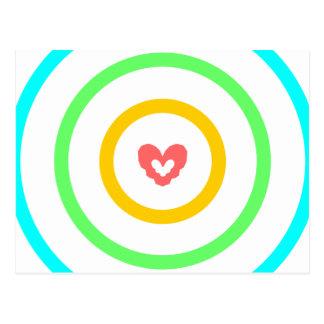 Heart Target Postcard