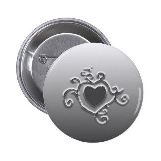 Heart Tat Pinback Button