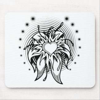 heart tattoo mouse pads
