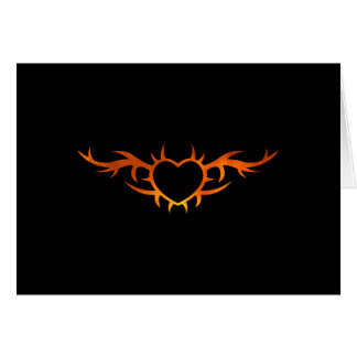 Heart Tattoo Stationery Note Card