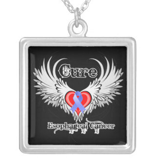 Heart Tattoo Wings - Cure Esophageal Cancer Pendant